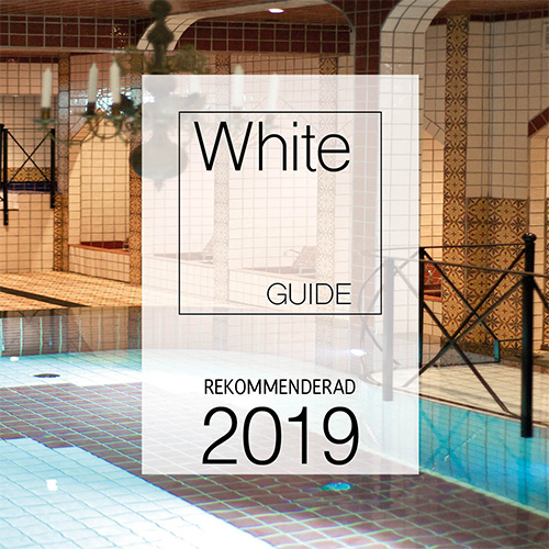 Spa med White guide logo